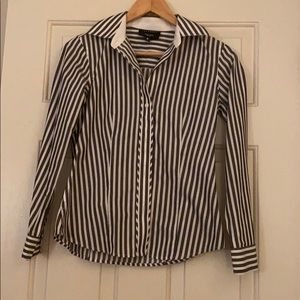 Foxcroft Long Sleeve Stripe Shirt